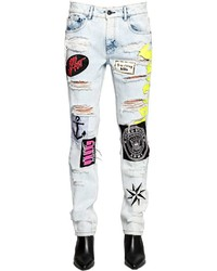 Boyfriend patches washed denim jeans medium 3664179
