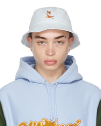 MAISON KITSUNÉ Blue Chillax Fox Bucket Hat