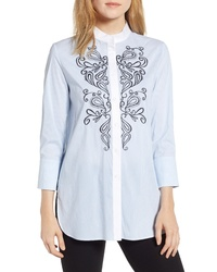 Ming Wang Embroidered Shirt
