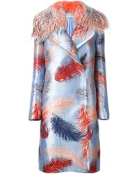 Emilio Pucci Embroidered Dislocated Fastening Coat