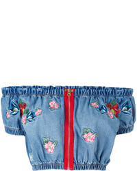 House of Holland Embroidered Crop Top