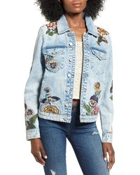 Blanknyc embroidered denim jacket medium 4412937