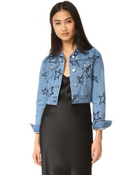 Etre cecile cropped denim jacket medium 1159481