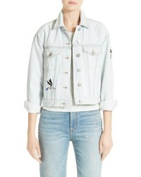 La vie embroidered denim jacket medium 3684786