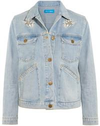 MiH Jeans Mih Jeans Embroidered Denim Jacket Mid Denim