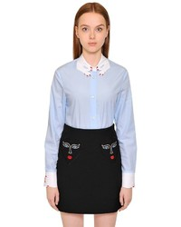 Hands embroidered cotton poplin shirt medium 4907687