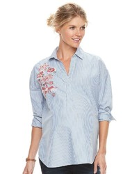 Maternity Aglow Embroidered Shirt