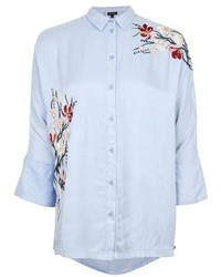 Topshop Tokyo Fusion Embroidered Shirt