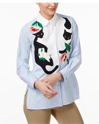 Max Mara Weekend Tresa Cotton Embroidered Shirt