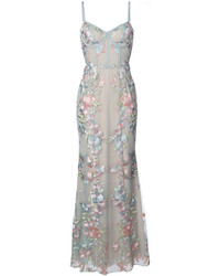 Notte floral embroidered gown medium 3994178