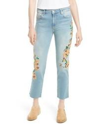 Embroidered crop girlfriend jeans medium 3722848