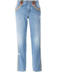 Ermanno Scervino Embroidered Trim Jeans