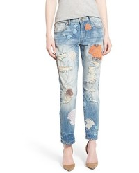 True religion brand jeans liv embroidered crop boyfriend skinny jeans medium 562781