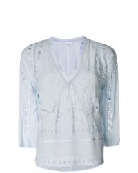 IRO Open Embroidery Blouse