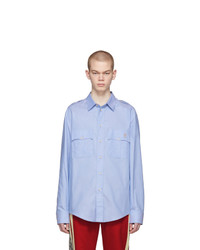 Gucci Blue Piglet Military Shirt