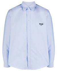 MSGM Boxy Fit Embroidered Logo Shirt