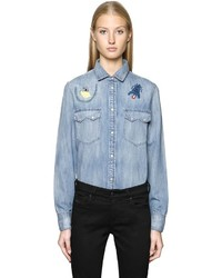 Diesel Embroidered Cotton Denim Shirt