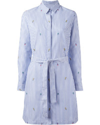 Kenzo Badge Embroidered Shirt Dress