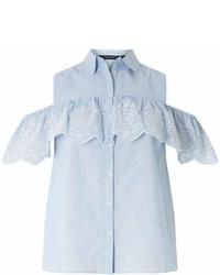 Dorothy Perkins Chambray Cold Shoulder Shirt