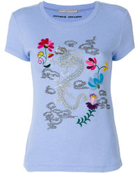 Ermanno Scervino Dragon Embroidered T Shirt