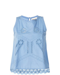 Semicouture Embroidered Tank Top