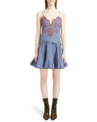 Chloé Embroidered Cotton Voile Dress