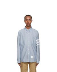 Thom Browne Blue Flannel 4 Bar Classic Shirt