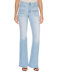 7 For All Mankind Georgia Cotton Bell Bottom Jeans