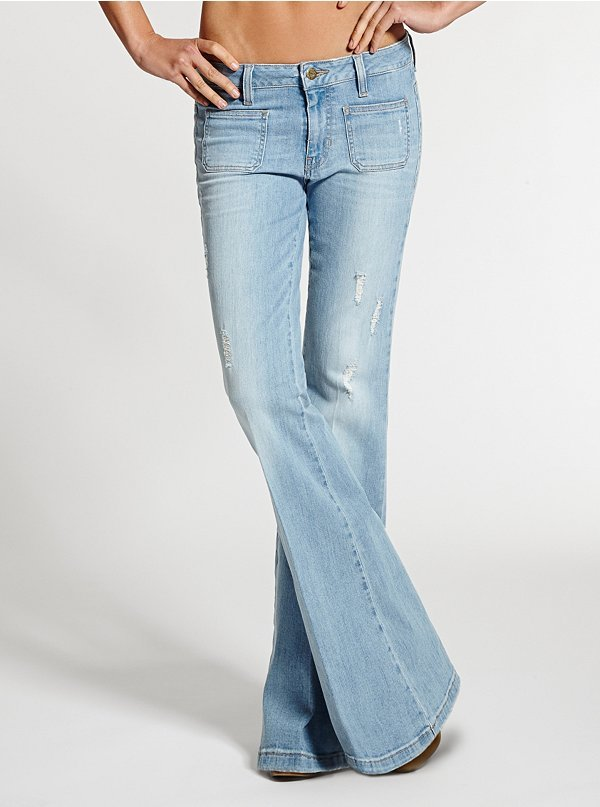 Otis 70s Mid Rise Flare Jeans In Wash | Where to buy & how to wear