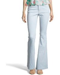 Alice + Olivia Light Blue Stretch Cotton 5 Pocket Bell Jeans