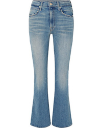 Mother Desperado Distressed High Rise Flared Jeans