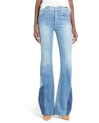 Hudson Jeans Laurel Patchwork Flare Jeans