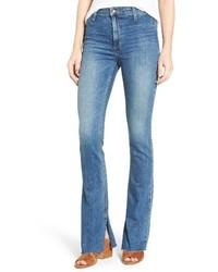 Joe's Jeans Joes Micro Open Flare Raw Hem Jeans
