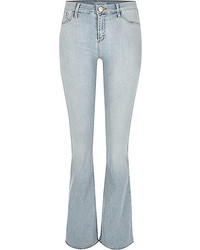 River Island Light Blue Wash Molly Flared Jeggings