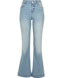 River Island Light Wash Suzie Flare Jeans