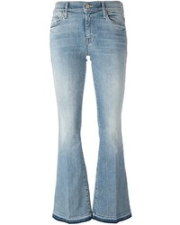 Mother Stonewashed Flared Jeans