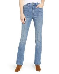 PROSPERITY DENIM Pintuck Flare Jeans