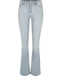Women's Light Blue Flare Jeans by River   Women's Fashion