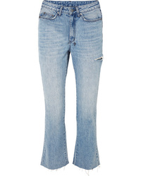 Ksubi Skinny Kickin Distressed High Rise Flared Jeans