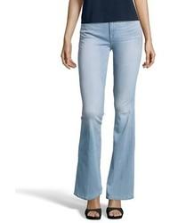 Frame Denim Stone Wash Stretch Le High Flare Wide Leg Jeans