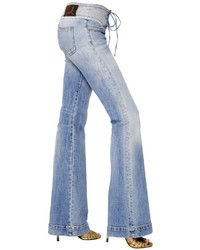 Roberto Cavalli Stretch Flared Cotton Denim Jeans