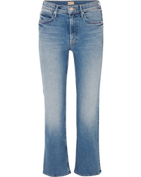 Mother The Dutchie Cropped Mid Rise Flared Jeans