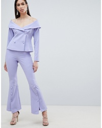 Lavish Alice Woven Bell Hem Tailored Trousers