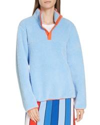 Tory Sport Snap Fleece Pullover