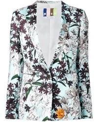 MSGM Flower Printed Blazer