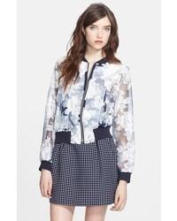 Ivy floral organza bomber jacket medium 26406