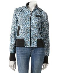 Members only floral bomber jacket medium 26408
