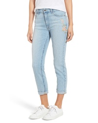 JEN7 by 7 For All Mankind Embroidered Slim Boyfriend Jeans