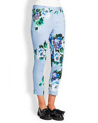 Floral print cropped pencil pants medium 64045