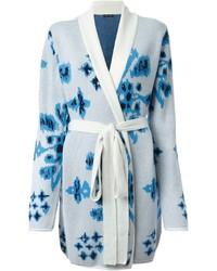 Baja East Knitted Floral Cardi Coat